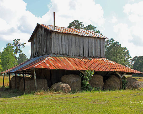 Tobacco Barn Poster featuring the photograph Clewis Family Tobacco Barn by Suzanne Gaff