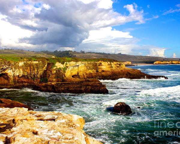 Landscape Poster featuring the photograph Cliffs by Shannan Peters