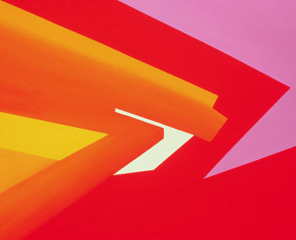 Abstract; Pink; Red Poster featuring the painting Climax by Izabella Godlewska de Aranda