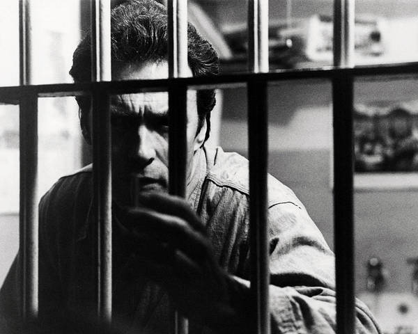 Escape From Alcatraz Poster featuring the photograph Clint Eastwood In Escape From Alcatraz by Silver Screen