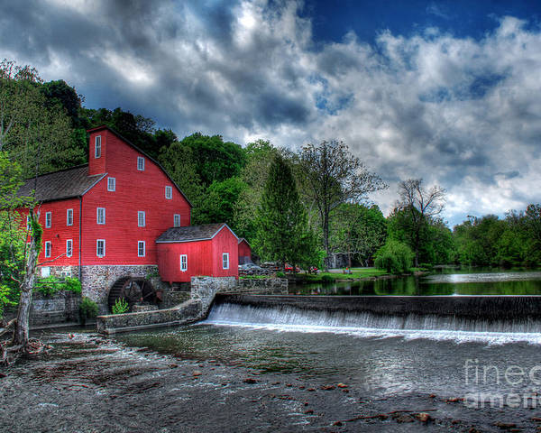 Countryside Poster featuring the photograph Clinton Red Mill House by Lee Dos Santos