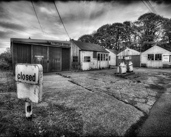 Petrol Poster featuring the photograph Closed by Jason Green