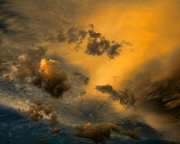 Sunset Poster featuring the photograph Cloud 20140710-22 by Carolyn Fletcher