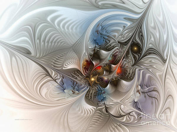 Fractal Poster featuring the digital art Cloud Cuckoo Land-fractal Art by Karin Kuhlmann