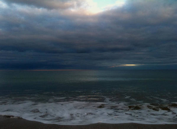 Clouds Over Sea Poster featuring the photograph Clouded Window by Amanda Holmes Tzafrir