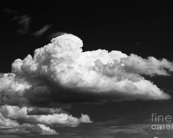 Black And White Clouds Poster featuring the photograph Clouds Over The Palouse by Ron Roberts