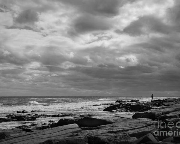 Coast Poster featuring the photograph Clouds Rolling In by Diane Diederich