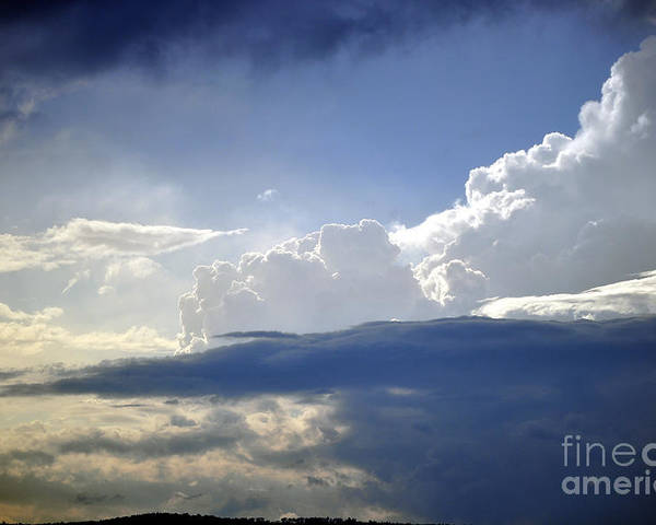 Cloud Poster featuring the photograph Clouds by Staci Bigelow
