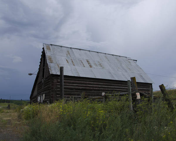 Barn Poster featuring the photograph Cloudy Barn by Irene Theriau