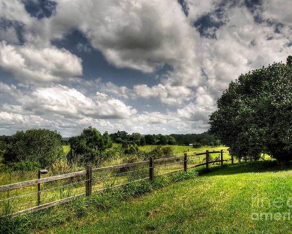 Photography Poster featuring the photograph Cloudy Day In The Country by Kaye Menner