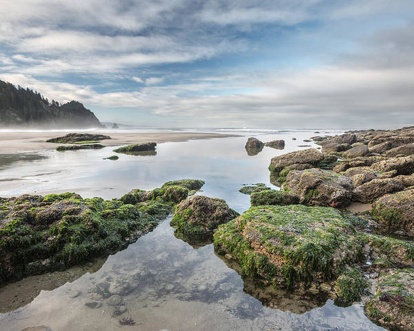 Horizontal Poster featuring the photograph Coastal Colors by Jon Glaser