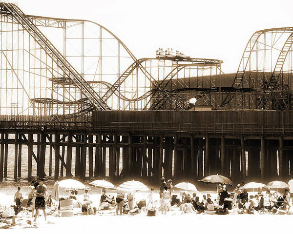 Coaster Ride Poster featuring the photograph Coaster Ride by John Rizzuto