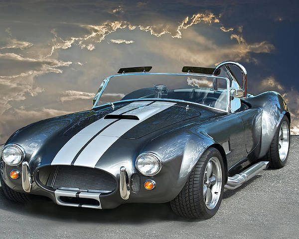 Auto Poster featuring the photograph Cobra In The Clouds by Dave Koontz