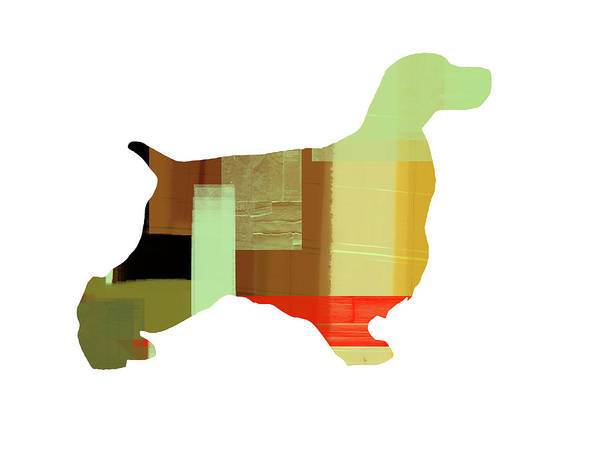 Cocker Spaniel Poster featuring the painting Cocker Spaniel 1 by Naxart Studio