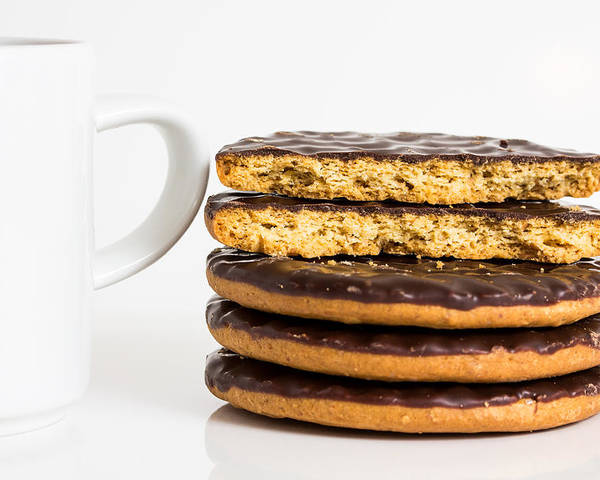 Coffee Poster featuring the photograph Coffee And Cookies. by Gary Gillette