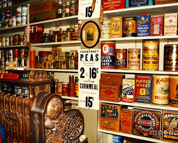 Antique Poster featuring the photograph Colorado General Store Supplies by Janice Rae Pariza