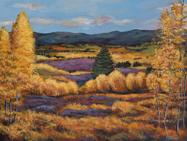 Autumn Aspen Poster featuring the painting Colorado by Johnathan Harris