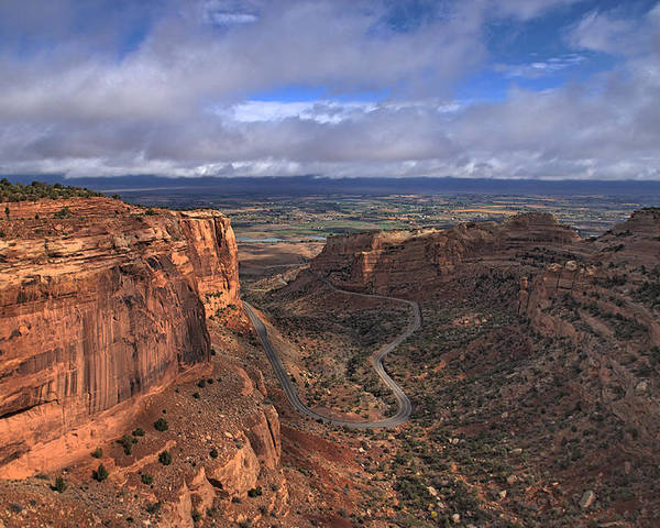 Landscape Poster featuring the photograph Colorado National Monument by Tom Winfield