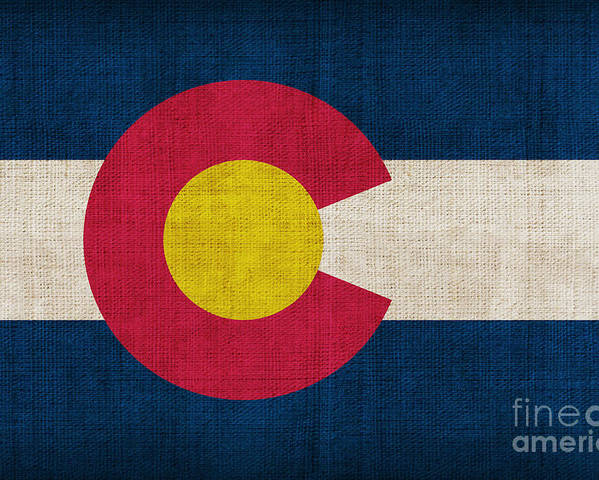 Colorado Poster featuring the painting Colorado State Flag by Pixel Chimp