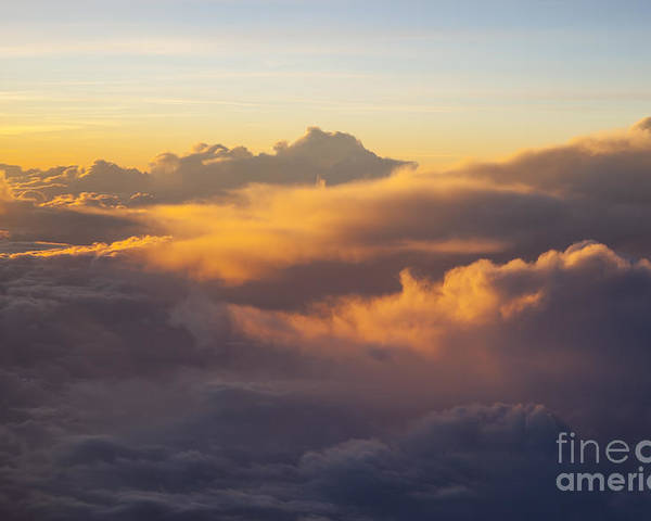 Above Poster featuring the photograph Colorful Clouds by Brian Jannsen