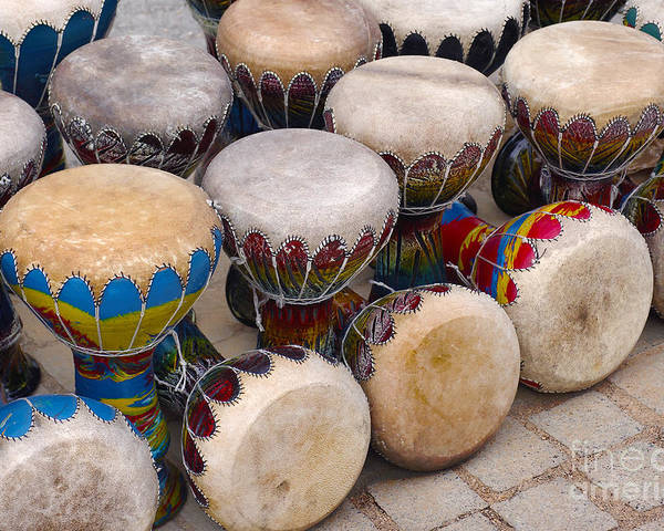 Handicraft Poster featuring the photograph Colorful Congas by Carlos Caetano