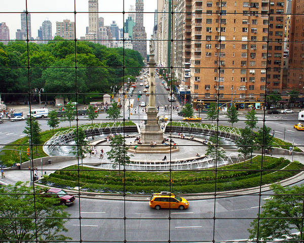 Nyc Poster featuring the photograph Columbus Circle by Mitch Cat