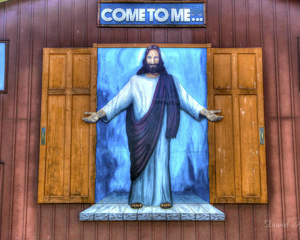 Jesus Poster featuring the photograph Come To Me by David Simons