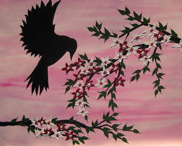 Tree Of Life Poster featuring the painting Coming Home To Roost by Cathy Jacobs