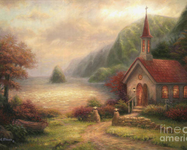 Church Poster featuring the painting Compassion Chapel by Chuck Pinson
