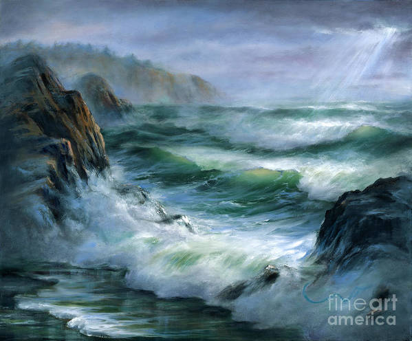 Transparent Wave Poster featuring the painting Concerto by Sharon Abbott-Furze