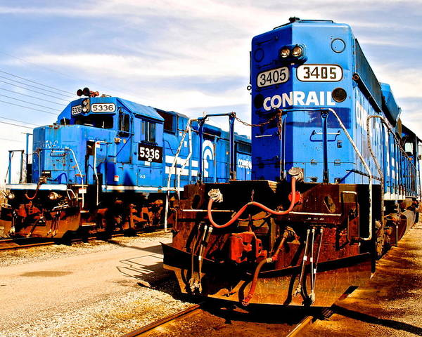 Conrail Poster featuring the photograph Conrail Choo Choo by Frozen in Time Fine Art Photography
