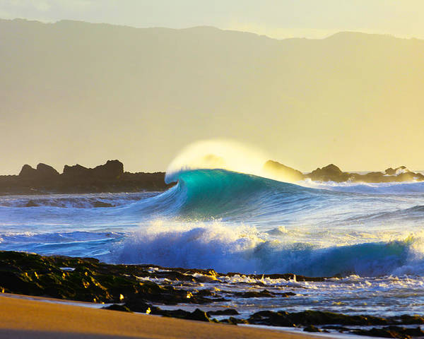 Big Wave Poster featuring the photograph Cool Curl by Sean Davey