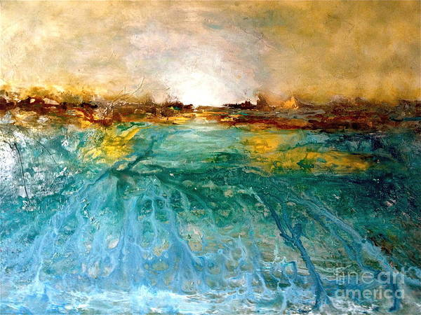 Sunset Poster featuring the painting Cool Water by Michelle Dommer