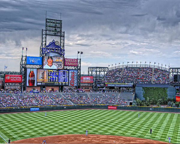 Coors Field Poster featuring the photograph Coors Field by Ron White