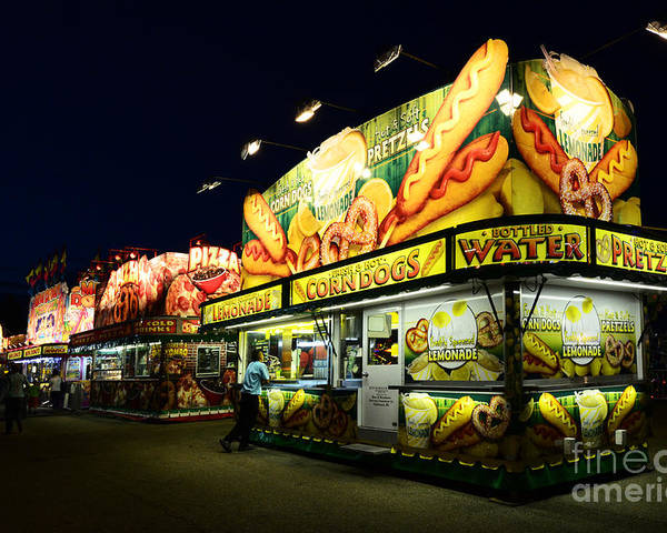 Corn Dogs Poster featuring the photograph Corn Dog Kiosk by Bob Christopher