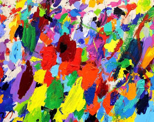 Abstract Poster featuring the painting Cornucopia Of Colour I by John Nolan