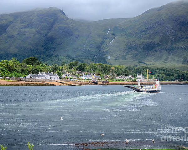 Corran Ferry Canvas Poster featuring the photograph Corran Ferry by Chris Thaxter
