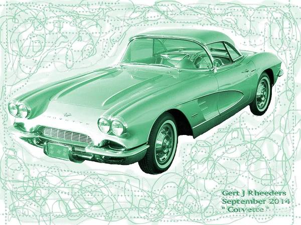 Art Poster featuring the photograph Corvette Sports Car Catus 1 No 3 by Gert J Rheeders