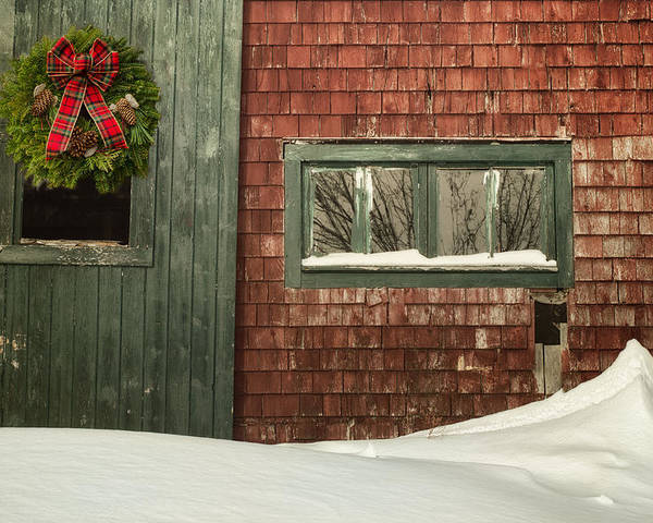 Barn Poster featuring the photograph Country Christmas by Susan Capuano