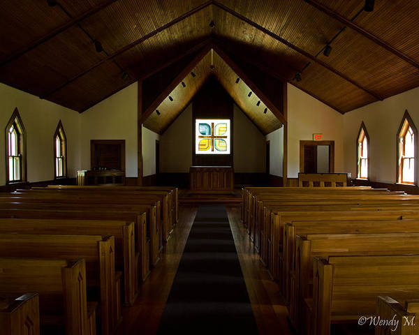Church Poster featuring the photograph Country Church Interior by Wendy Hansen-Penman