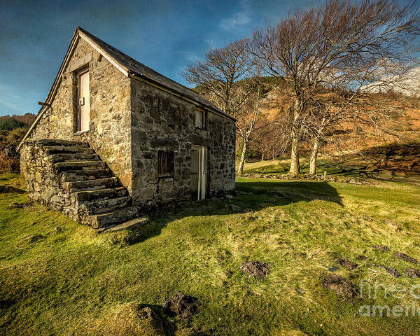 Hdr Poster featuring the photograph Country Cottage by Adrian Evans