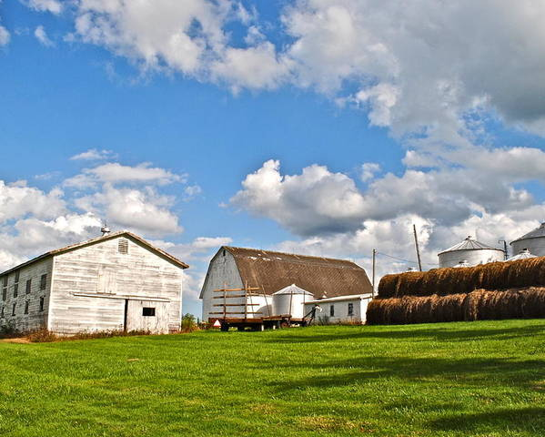 Country Poster featuring the photograph Country Farm by Frozen in Time Fine Art Photography