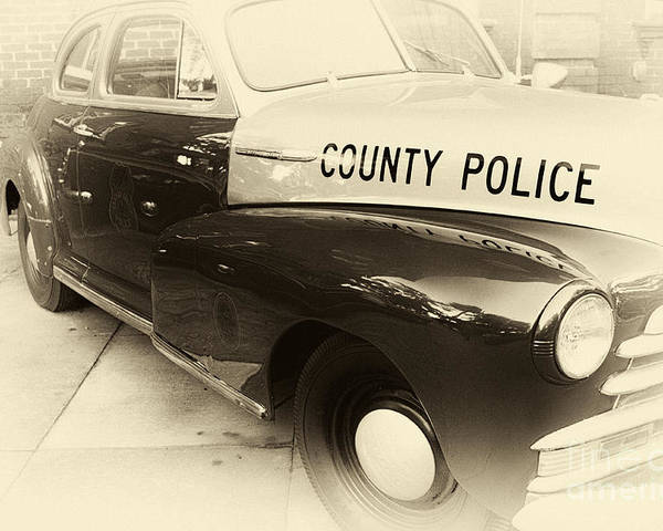County Police Antique Toned Poster featuring the photograph Country Police Antique Toned by John Rizzuto