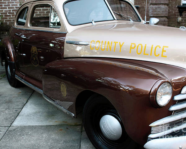 Police Car Poster featuring the photograph County Police by John Rizzuto