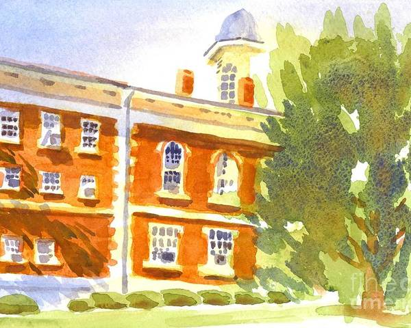 Courthouse In August Sun Poster featuring the painting Courthouse In August Sun by Kip DeVore