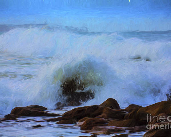 Crashing Waves Poster featuring the photograph Crashing waves by Sheila Smart Fine Art Photography