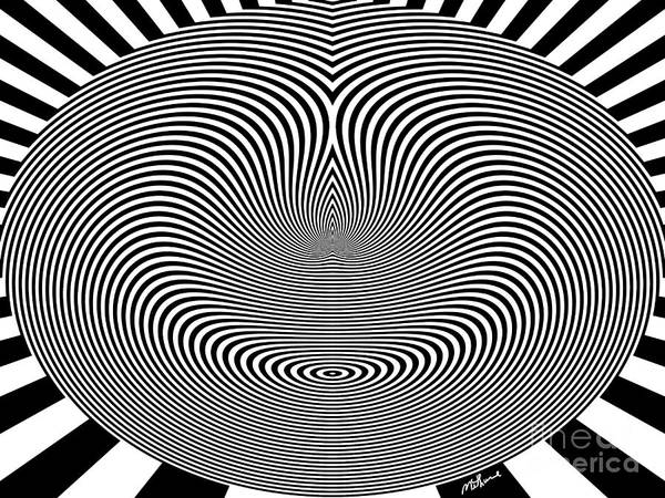 Crazy Circles Poster featuring the digital art Crazy Circles by Methune Hively