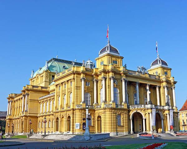Croatia Poster featuring the photograph Croatian National Theater In Zagreb by Borislav Marinic