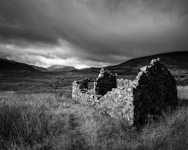 Crofters Cottage Poster featuring the photograph Crofters Cottage Ruin by Dave Bowman