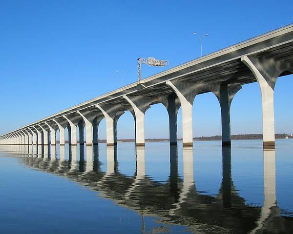 Bridge Poster featuring the photograph Cross Lake Bridge 1 by Alan Metzger